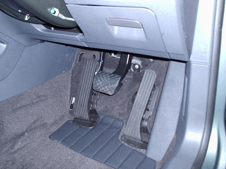 A second identicle pedal is adapted and fitted on the left of the brake. only one pedal operates at a time and they are alternated between by a switch ...